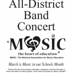 BAND – All District Concert – 3/14/20