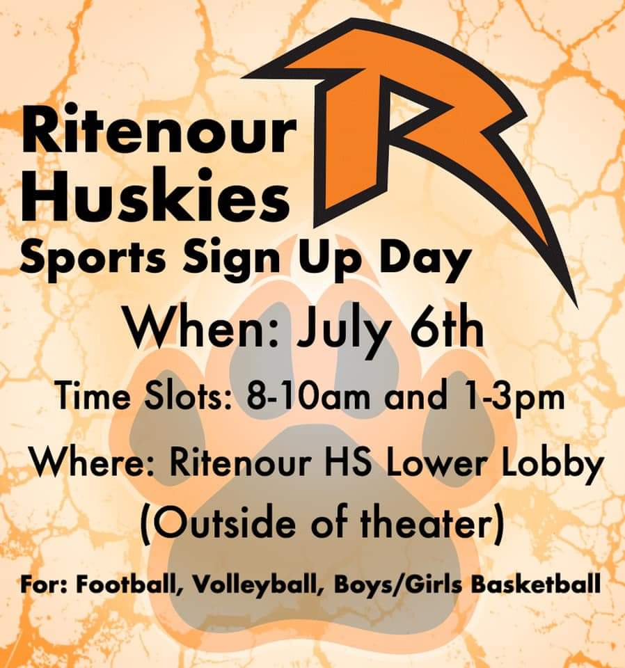 Sports Sign-Up – Monday July 6th, 2020