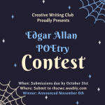 October 2020 – Creative Writing Club
