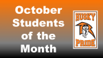 October 2020 – Students of the Month