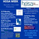 HOSA Week – Nov 9th-13th, 2020
