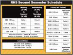 RHS 2nd Semester Schedule – 2021