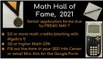 Math Hall of Fame – Due Friday, May 7