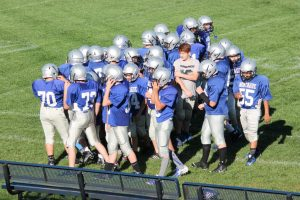 NBC Football:  Scrimmage Pictures Vs North Muskegon on September 9, 2015