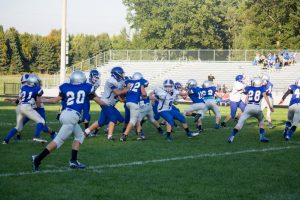 NBC Football Game Pictures Vs Ravenna on October 5, 2016