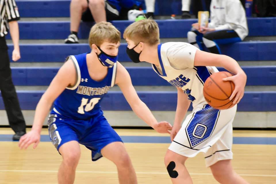 Boys Varsity Basketball at Oakridge 2-24-21