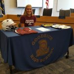 Gracelyn Kennedy signs with Aquinas.