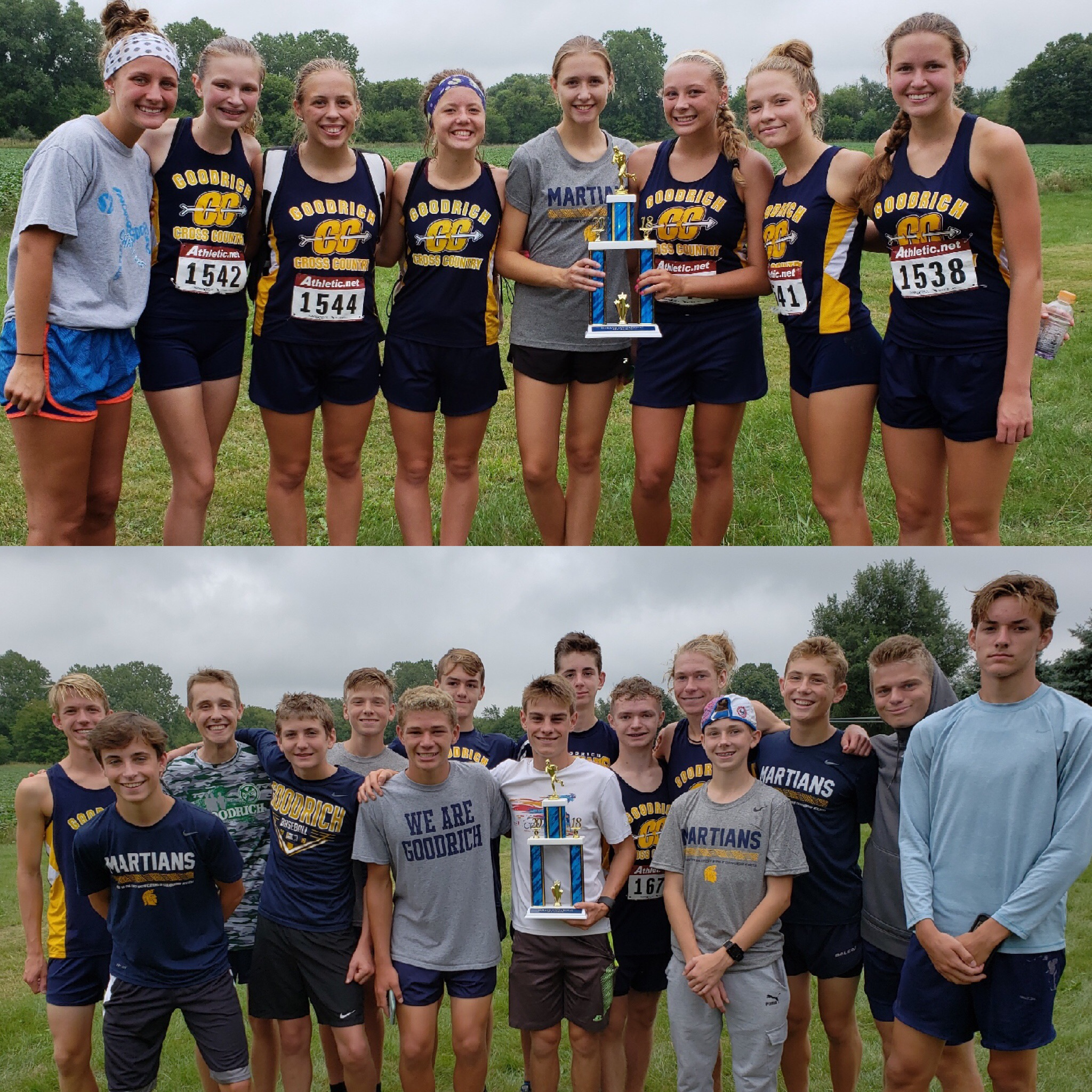 Cross Country Brings Home Two First Place Trophies