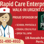 Rapid Care Enterprise Supports Perris High School Football Team