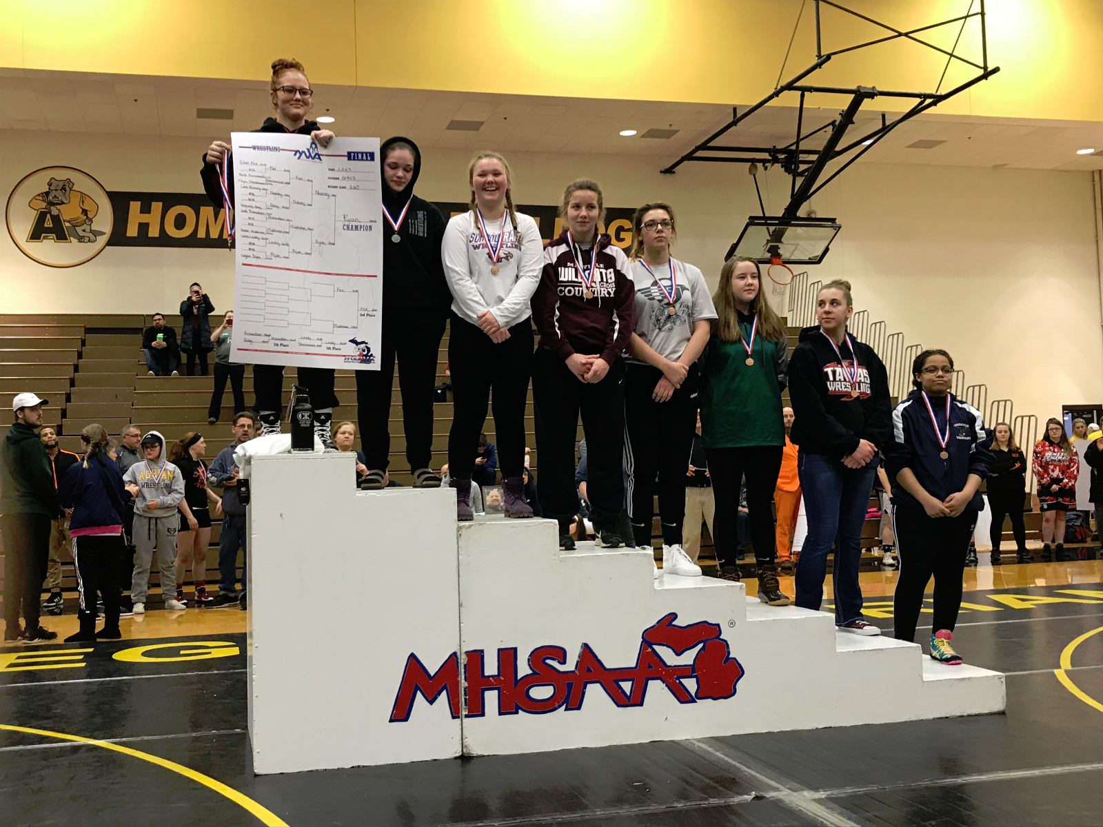 Silver Fox Places Third at Girls State Wrestling