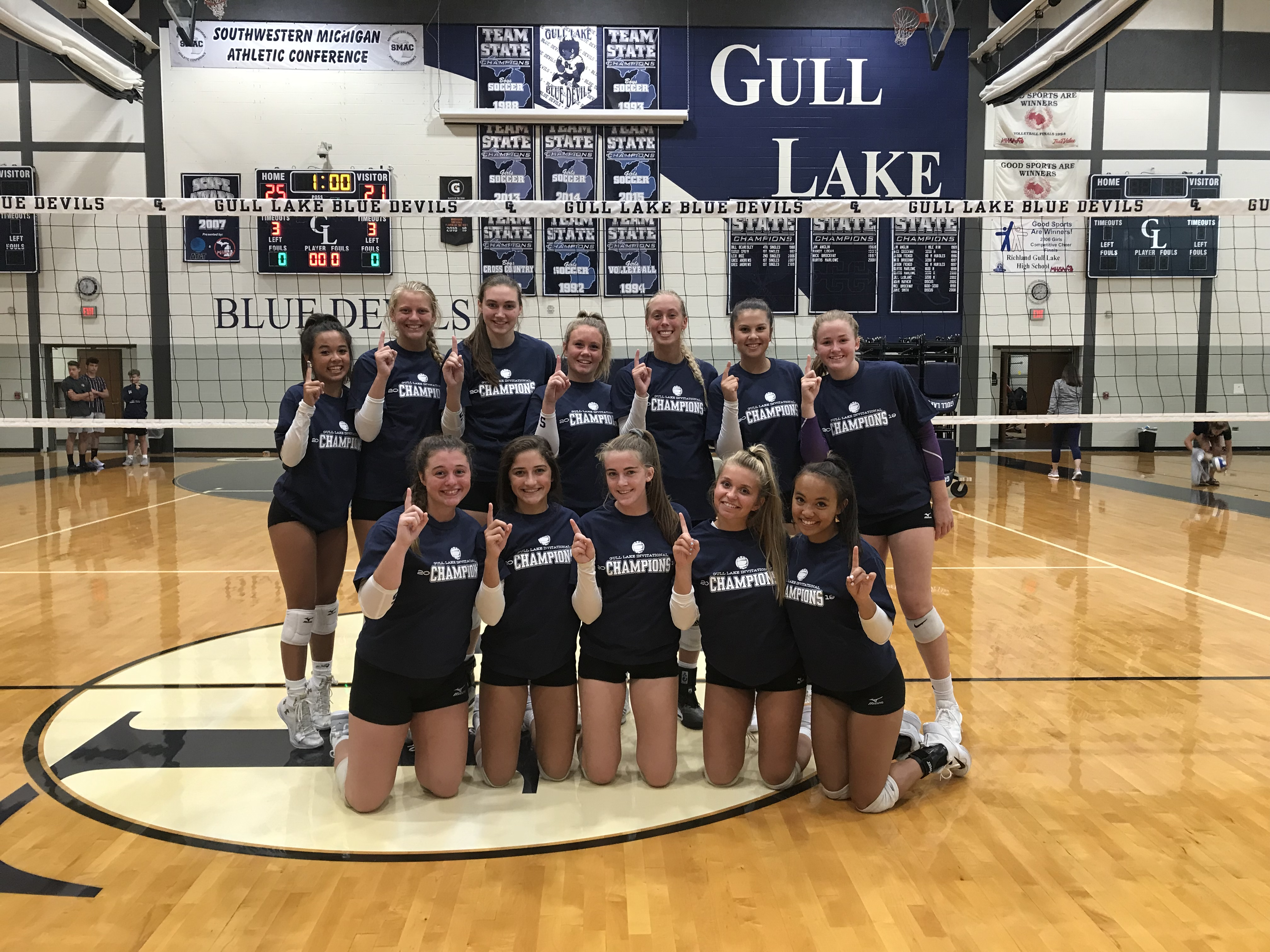 Girls Varsity Volleyball beats Niles 2-0 in finals of Gull Lake Invitational