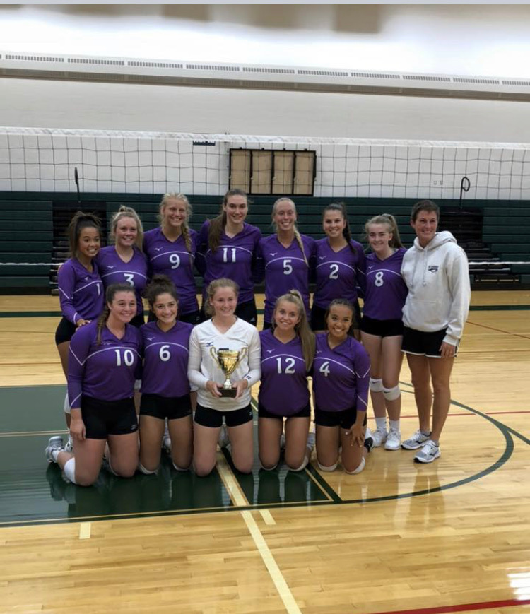 Girls Varsity Volleyball beats Kalamazoo Christian 2-0 to win Western Michigan Christian Invitational