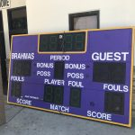 New Gym Scoreboards Installed