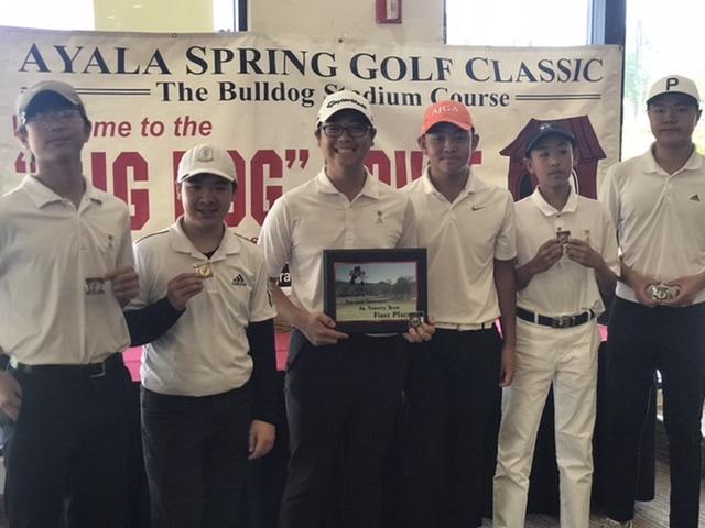 Boys JV Golf Team Wins Ayala Tournament