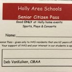 Holly Area School District Senior Citizen Pass