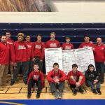 Boys Varsity Wrestling finishes 1st place at MHSAA Districts @ Goodrich High School