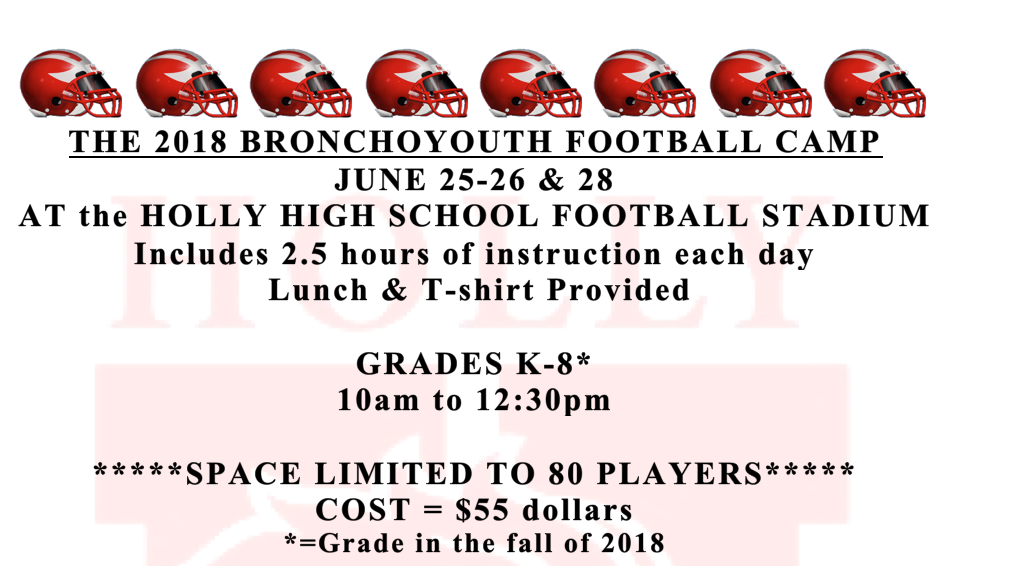 Broncho Football Camp