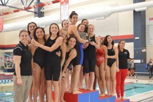 Waverly/Lansing Catholic finishes off an undefeated swim season with a strong finish at the CAAC Red meet