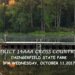 District 14-AAA Cross Country Meet Today @ Daingerfield State Park