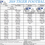 2018 All In One Tiger Football Schedule