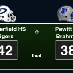 Final Tigers 42 Pewitt 38