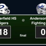 Final Score Tigers 18 Anderson-Shiro 0