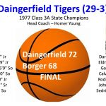 Flashback Friday: 1977 Daingerfield Tiger Basketball – State Champs