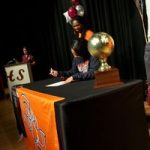 Killeen High School honors guard Harston at signing ceremony