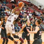 Lady Roos edge No. 16 Midway