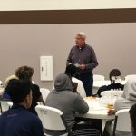 Coach Blum Shares Wisdom with Varsity Football