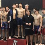 Boys Varsity Swimming finishes 2nd place at Inaugural United Kansas Conference Meet @ Lansing High School