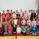 Boys Basketball and Owingsville Elementary Drama Team Practice Together