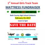 Girls Track Mattress Sale Fundraiser