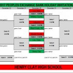 2017 Peoples Exchange Bank Holiday Invitational