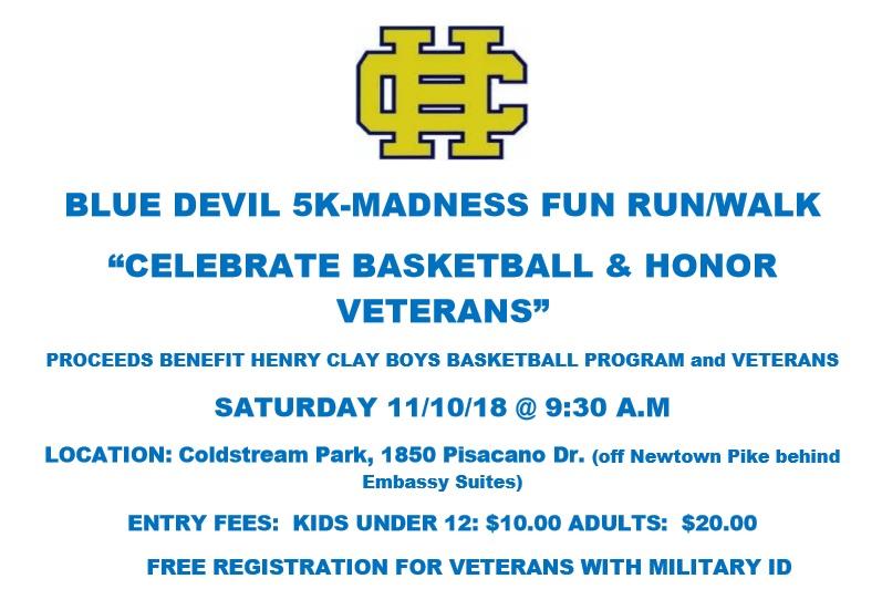 Blue Devil 5K–Celebrate Basketball and Honor Veterans