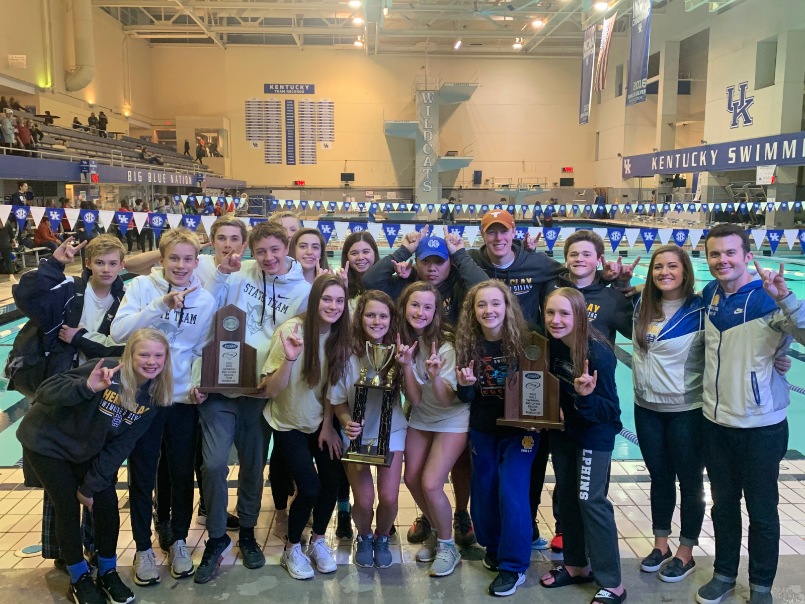 Henry Clay Swim are the Boys, Girls, and Combine Regional Runner-up!