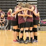 Poolville Girls Middle School Volleyball beat Chico 2-1