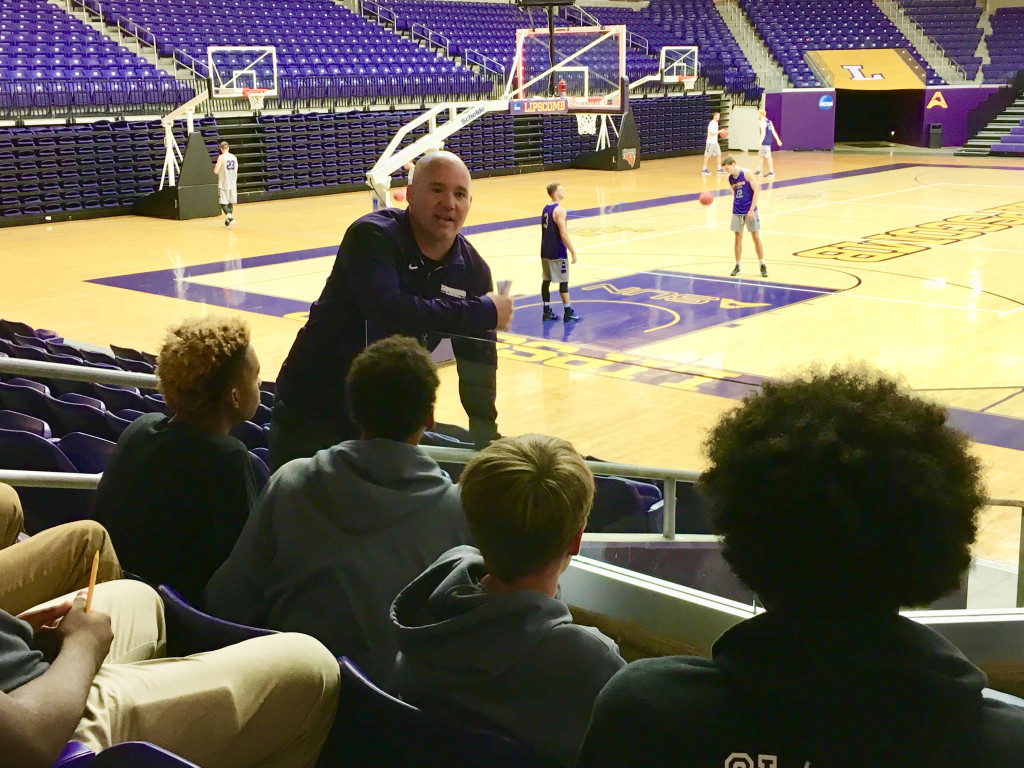 Boys basketball team visits Lipscomb University…