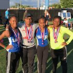 Girls 4×100 places 3rd in State