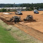 New soccer field is progressing! Looking forward to seeing it ALL green!