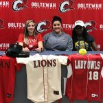 Addy Keylon and Cheyanne Sales sign National Letters of Intent