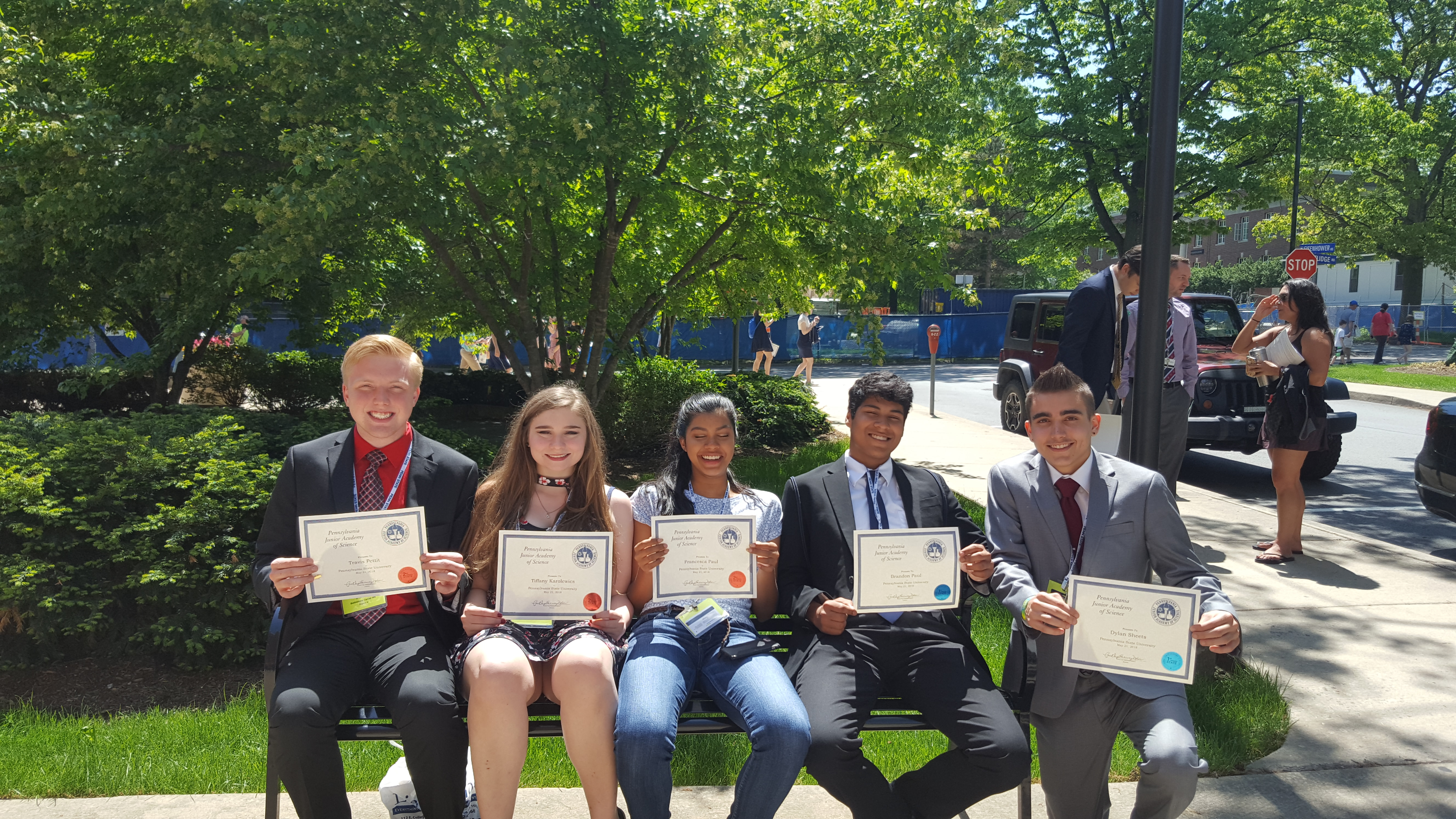 Students earn two first awards and three second awards at PJAS state competition!