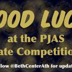 Good Luck PJAS Participants