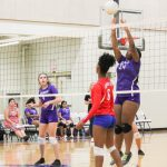 Northeast Senior High School Girls Varsity Volleyball beat Southeast High School 25-23