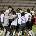 Northeast Vikings boys soccer defeat Lincoln prep in double overtime 5-4.