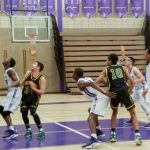 Northeast Senior High School Boys Varsity Basketball falls to Rock Bridge High School 73-41