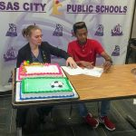 """Northeast Vikings Boys Soccer A DU BY  DAR """"Adrian"""" signs with Rockhurst College to play soccer."""