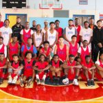 Langston University men's basketball team visits Southeast high school