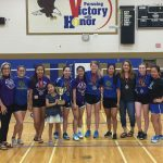 Girls Varsity Badminton finishes 1st place at District Tournament