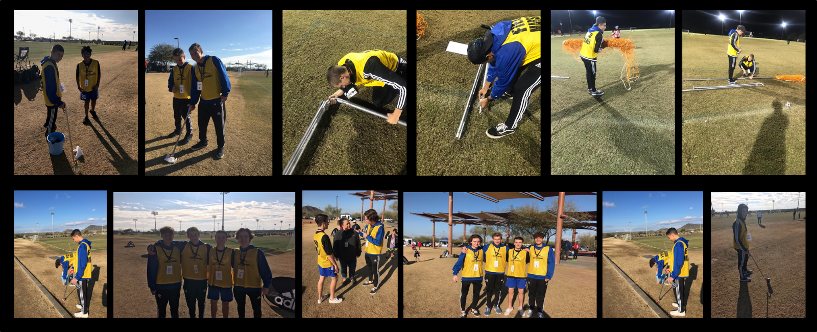 SDO Boy's Soccer Team spent the day serving their community by volunteering at the STARS tournament!